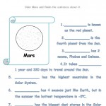 Color and write about Mars