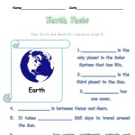 Color and write about Earth
